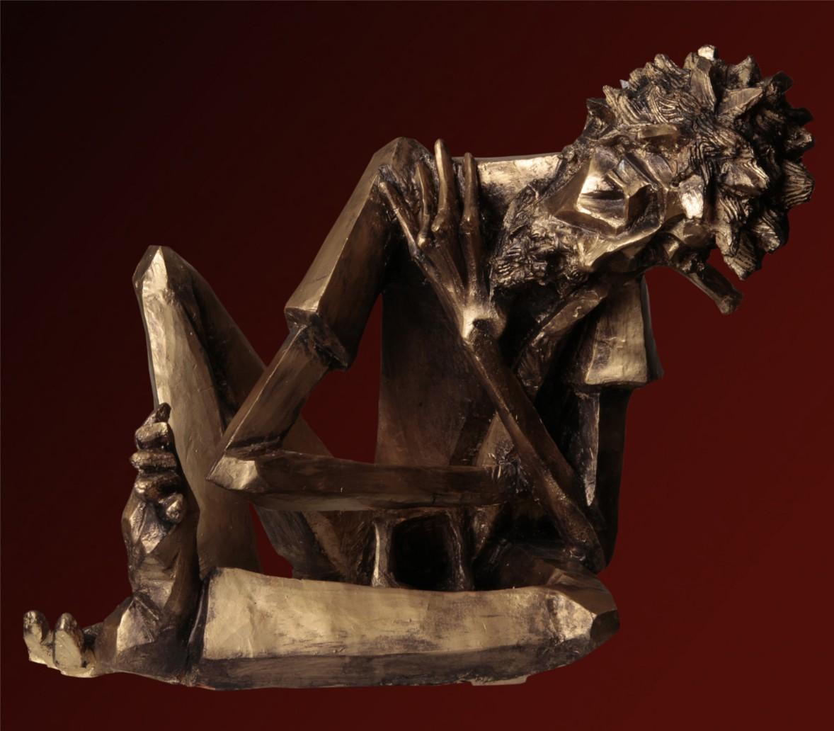 Suonatore Jazz - 40x46x50 cm, 2007)