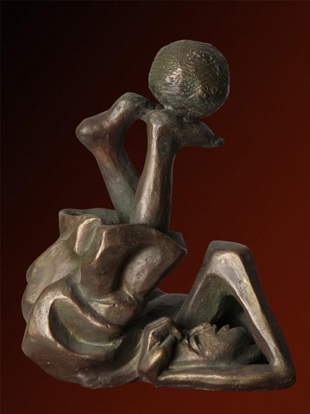 Il mondo ai piedi - 19x10x15 cm, 1998